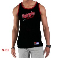 Men's Nike Washington Nationals Home Practice Tank Top Black