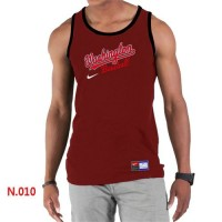 Men's Nike Washington Nationals Home Practice Tank Top Red