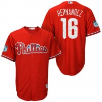 Men's Philadelphia Phillies #16 Cesar Hernandez 2017 Spring Training Cool Base Stitched MLB Jersey
