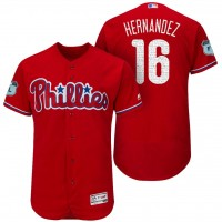 Men's Philadelphia Phillies #16 Cesar Hernandez 2017 Spring Training Flex Base Authentic Collection Stitched Baseball Jersey