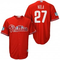 Men's Philadelphia Phillies #27 Aaron Nola 2017 Spring Training Cool Base Stitched MLB Jersey