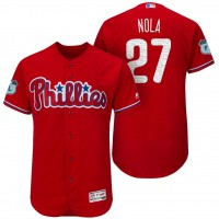 Men's Philadelphia Phillies #27 Aaron Nola 2017 Spring Training Flex Base Authentic Collection Stitched Baseball Jersey