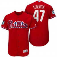 Men's Philadelphia Phillies #47 Howie Kendrick 2017 Spring Training Flex Base Authentic Collection Stitched Baseball Jersey