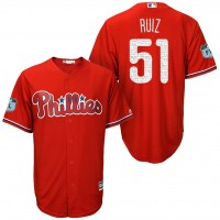 Men's Philadelphia Phillies #51 Carlos Ruiz 2017 Spring Training Cool Base Stitched MLB Jersey