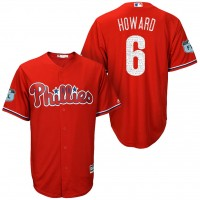 Men's Philadelphia Phillies #6 Ryan Howard 2017 Spring Training Cool Base Stitched MLB Jersey