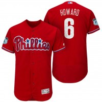 Men's Philadelphia Phillies #6 Ryan Howard 2017 Spring Training Flex Base Authentic Collection Stitched Baseball Jersey