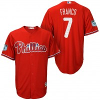 Men's Philadelphia Phillies #7 Maikel Franco 2017 Spring Training Cool Base Stitched MLB Jersey