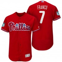 Men's Philadelphia Phillies #7 Maikel Franco 2017 Spring Training Flex Base Authentic Collection Stitched Baseball Jersey