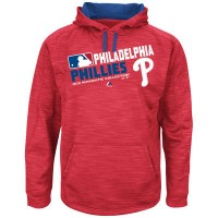 Men's Philadelphia Phillies Authentic Collection Red Team Choice Streak Hoodie