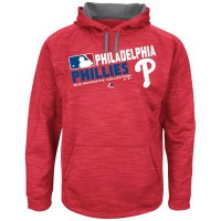 Men's Philadelphia Phillies Big & Tall On-Field Red Team Choice Streak Therma Base Fleece Hoodie