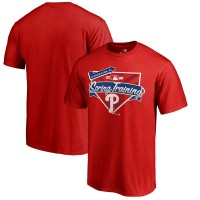 Men's Philadelphia Phillies Fanatics Branded Red 2017 MLB Spring Training Logo T-Shirt