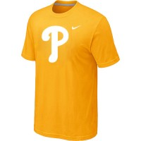 Men's Philadelphia Phillies Fresh Logo Yellow T-Shirt