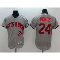 Men's Pittsburgh Pirates #24 Barry Bonds Grey Stitched 2016 Fashion Stars & Stripes Flex Base Baseball Jersey