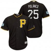 Men's Pittsburgh Pirates #25 Gregory Polanco 2017 Spring Training Cool Base Stitched MLB Jersey