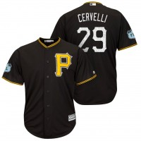 Men's Pittsburgh Pirates #29 Francisco Cervelli 2017 Spring Training Cool Base Stitched MLB Jersey