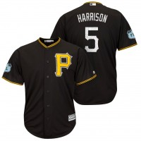 Men's Pittsburgh Pirates #5 Josh Harrison 2017 Spring Training Cool Base Stitched MLB Jersey