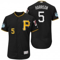 Men's Pittsburgh Pirates #5 Josh Harrison 2017 Spring Training Flex Base Authentic Collection Stitched Baseball Jersey