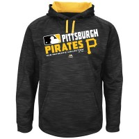 Men's Pittsburgh Pirates Authentic Collection Black Team Choice Streak Hoodie