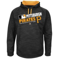 Men's Pittsburgh Pirates Big & Tall On-Field Black Team Choice Streak Therma Base Fleece Hoodie
