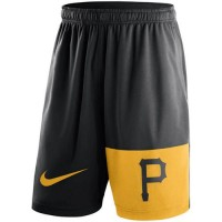 Men's Pittsburgh Pirates Nike Black Cooperstown Collection Dry Fly Shorts