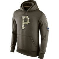 Men's Pittsburgh Pirates Nike Olive Salute To Service KO Performance Hoodie