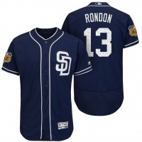 Men's San Diego Padres #13 Jose Rondon 2017 Spring Training Flex Base Authentic Collection Stitched Baseball Jersey