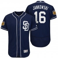 Men's San Diego Padres #16 Travis Jankowski 2017 Spring Training Flex Base Authentic Collection Stitched Baseball Jersey