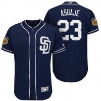 Men's San Diego Padres #23 Carlos Asuaje 2017 Spring Training Flex Base Authentic Collection Stitched Baseball Jersey