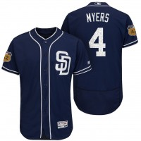 Men's San Diego Padres #4 Wil Myers 2017 Spring Training Flex Base Authentic Collection Stitched Baseball Jersey