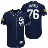Men's San Diego Padres #76 Jose Torres 2017 Spring Training Flex Base Authentic Collection Stitched Baseball Jersey