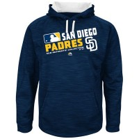 Men's San Diego Padres Authentic Collection Navy Team Choice Streak Hoodie