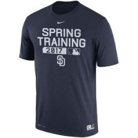Men's San Diego Padres Nike Navy 2017 Spring Training Authentic Collection Legend Team Issue Performance T-Shirt