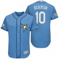 Men's Tampa Bay Rays #10 Corey Dickerson 2017 Spring Training Flex Base Authentic Collection Stitched Baseball Jersey