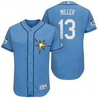 Men's Tampa Bay Rays #13 Brad Miller 2017 Spring Training Flex Base Authentic Collection Stitched Baseball Jersey