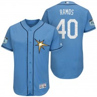 Men's Tampa Bay Rays #40 Wilson Ramos 2017 Spring Training Flex Base Authentic Collection Stitched Baseball Jersey