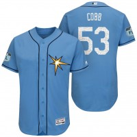 Men's Tampa Bay Rays #53 Alex Cobb 2017 Spring Training Flex Base Authentic Collection Stitched Baseball Jersey