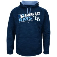 Men's Tampa Bay Rays Authentic Collection Navy Team Choice Streak Hoodie