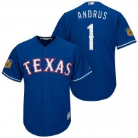 Men's Texas Rangers #1 Elvis Andrus 2017 Spring Training Cool Base Stitched MLB Jersey