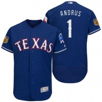 Men's Texas Rangers #1 Elvis Andrus 2017 Spring Training Flex Base Authentic Collection Stitched Baseball Jersey