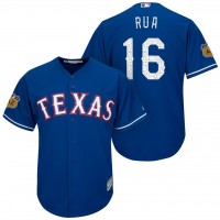 Men's Texas Rangers #16 Ryan Rua 2017 Spring Training Cool Base Stitched MLB Jersey