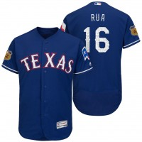 Men's Texas Rangers #16 Ryan Rua 2017 Spring Training Flex Base Authentic Collection Stitched Baseball Jersey