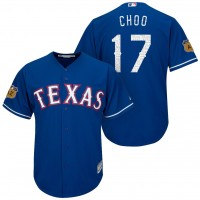 Men's Texas Rangers #17 Shin-soo Choo 2017 Spring Training Cool Base Stitched MLB Jersey