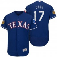 Men's Texas Rangers #17 Shin-soo Choo 2017 Spring Training Flex Base Authentic Collection Stitched Baseball Jersey