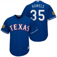 Men's Texas Rangers #35 Cole Hamels 2017 Spring Training Cool Base Stitched MLB Jersey