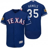 Men's Texas Rangers #35 Cole Hamels 2017 Spring Training Flex Base Authentic Collection Stitched Baseball Jersey