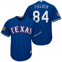 Men's Texas Rangers #84 Prince Fielder 2017 Spring Training Cool Base Stitched MLB Jersey