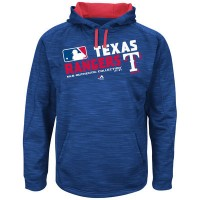 Men's Texas Rangers Authentic Collection Royal Team Choice Streak Hoodie