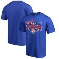 Men's Texas Rangers Fanatics Branded Blue 2017 MLB Spring Training Team Logo Big & Tall T-Shirt