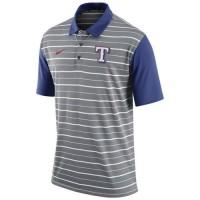 Men's Texas Rangers Nike Gray Dri-FIT Stripe Polo