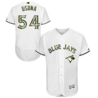 Men's Toronto Blue Jays #54 Roberto Osuna White Flexbase Authentic Collection 2016 Memorial Day Stitched Baseball Jersey